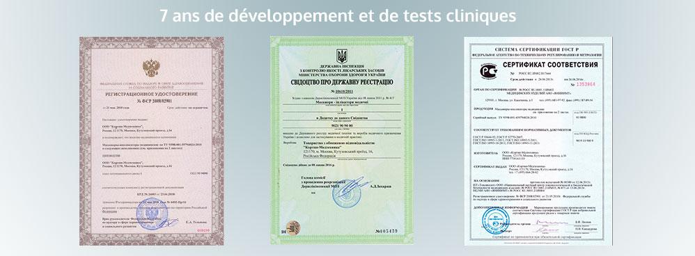 certificats tapis de fleurs acupression